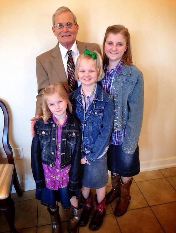 The girls with Pastor Davis